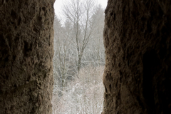 Ausblick vom Hirschkopfturm in Winter