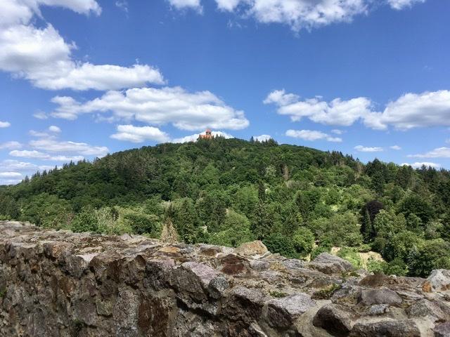 Blick auf die Wachenburg in Weinheim